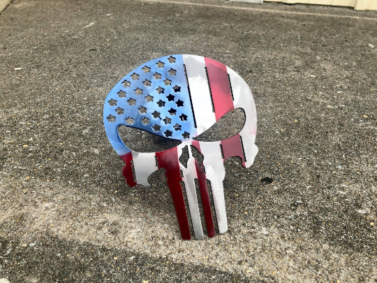 American Flag Punisher Hitch Cover