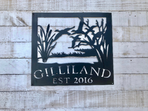 Personalized Duck Sign