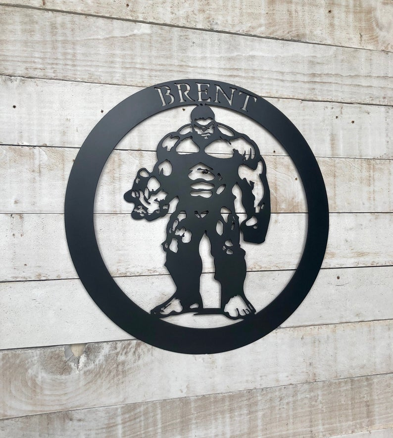 The Hulk Metal Sign