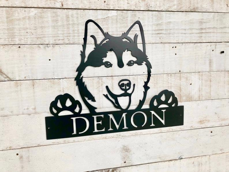 Siberian Husky Wall Sign
