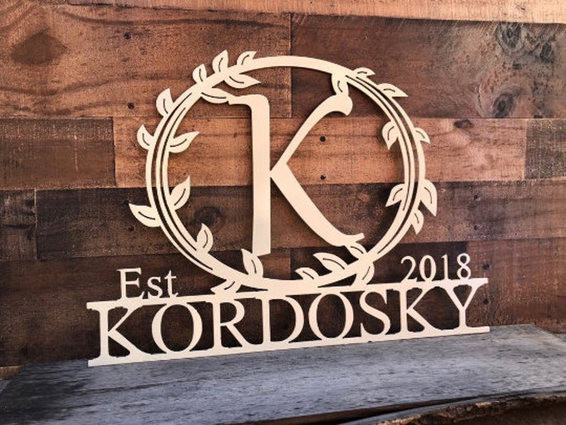 Personalized Last Name Sign ( Kordosky )
