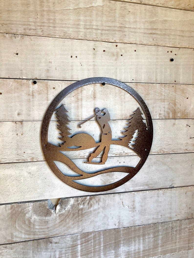 Golfer Metal Decor