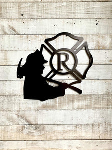 Personalized Firemen Initial
