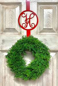 Initial Wreath Door Hanger