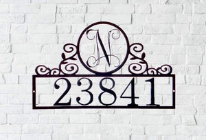 Personalized Home Numbers/ Initial