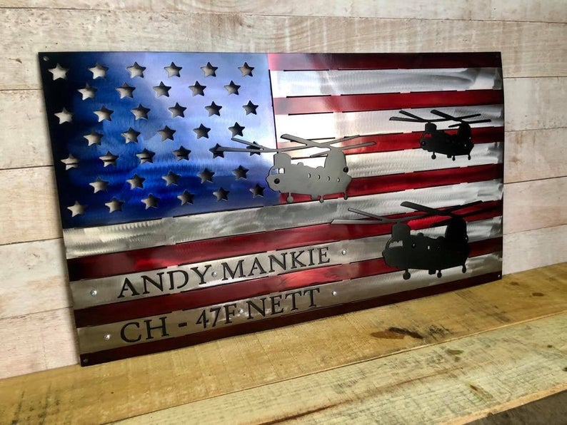 Personalized American Chinook Flag