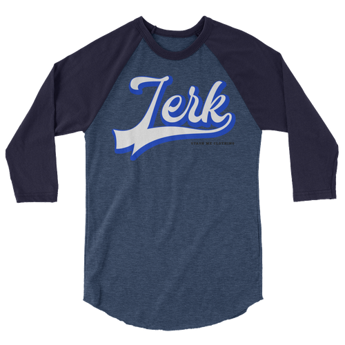 STASH ME® Jerk 3/4 sleeve raglan shirt