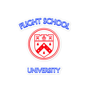 Flight School University - School Bubble-free stickers