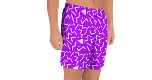 Stash Me - Athletic Shorts Purple