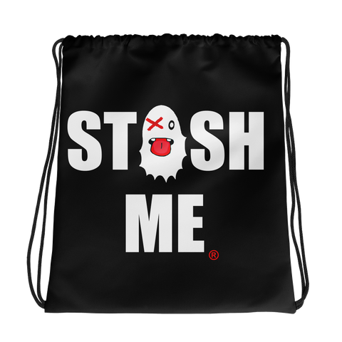Stash Me - Ghost Drawstring Bag
