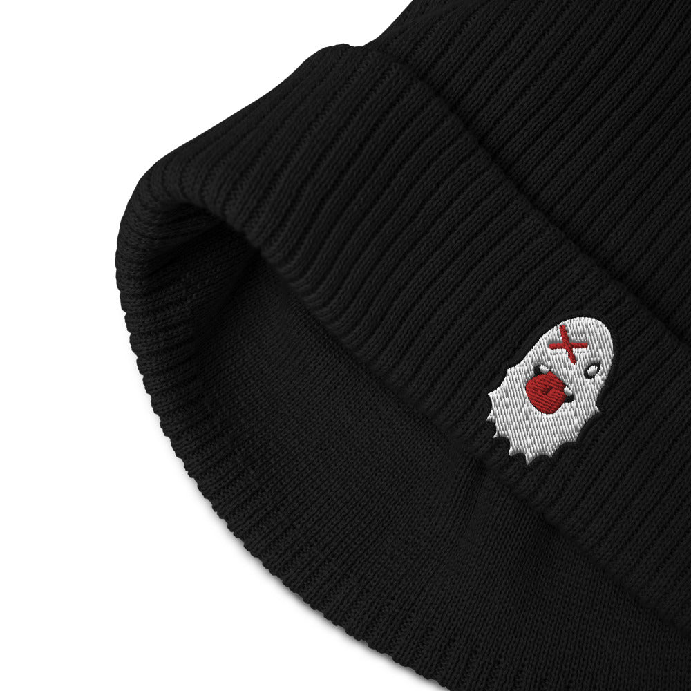 Stash Me -Organic Ribbed Ghost Beanie