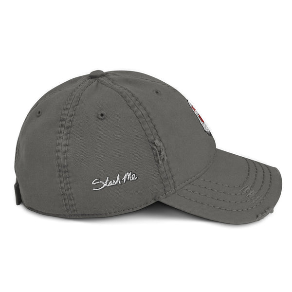 Stash Me - Ghost Distressed Hat