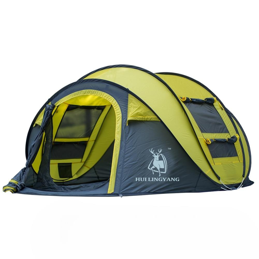 HUI LINGYANG 3-4 Persons Waterproof Pop-up Tent
