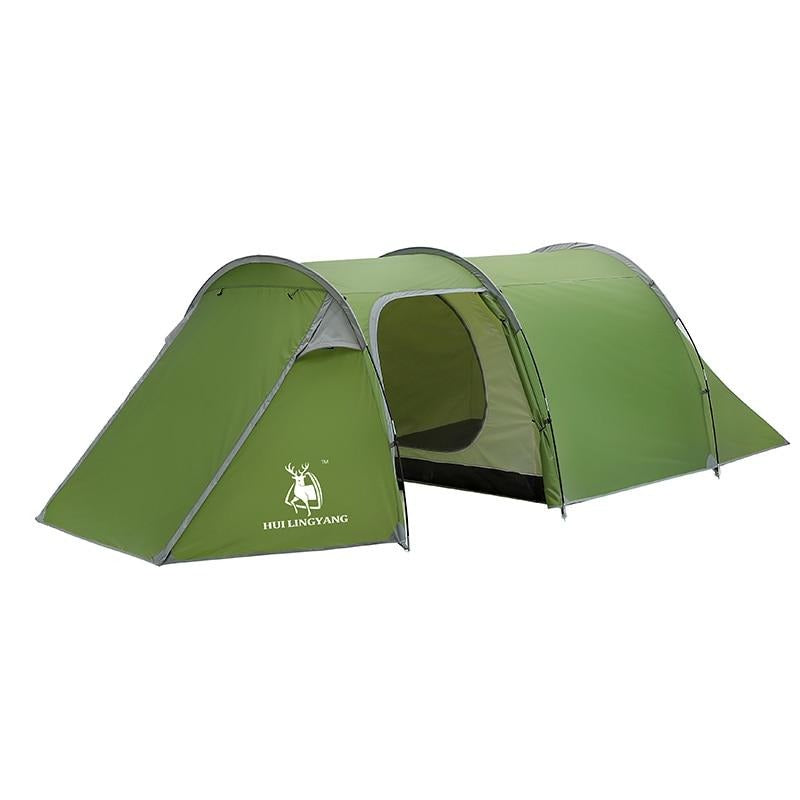HUI LINGYANG 3-4 Persons Ultralight Double Layer Tunnel Tent