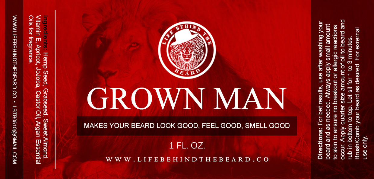 Beard Oil - Grown Man