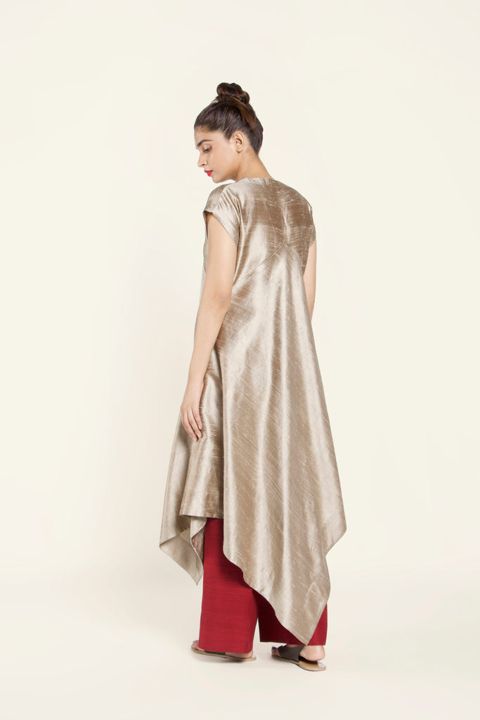 Dupion Silk Dress