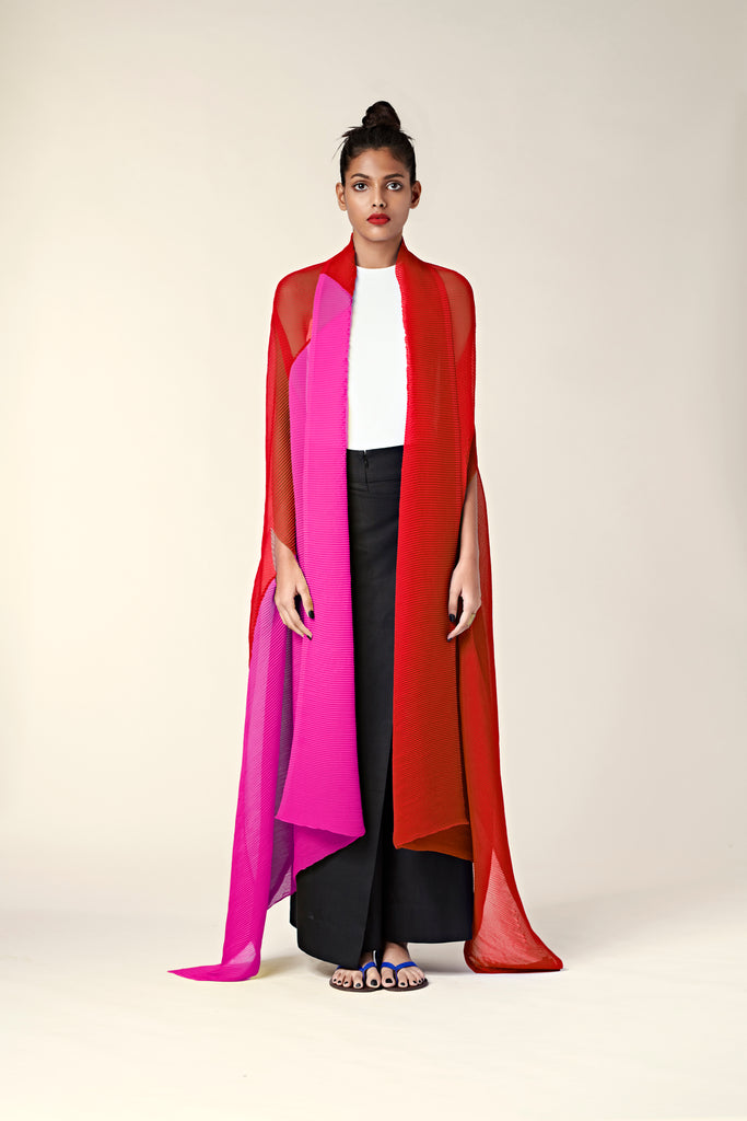 Pleated Colour Blocked Jacket