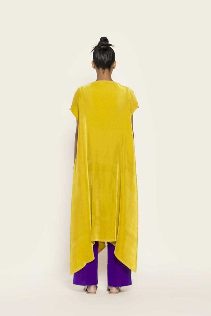 Pleated Kurta Dress