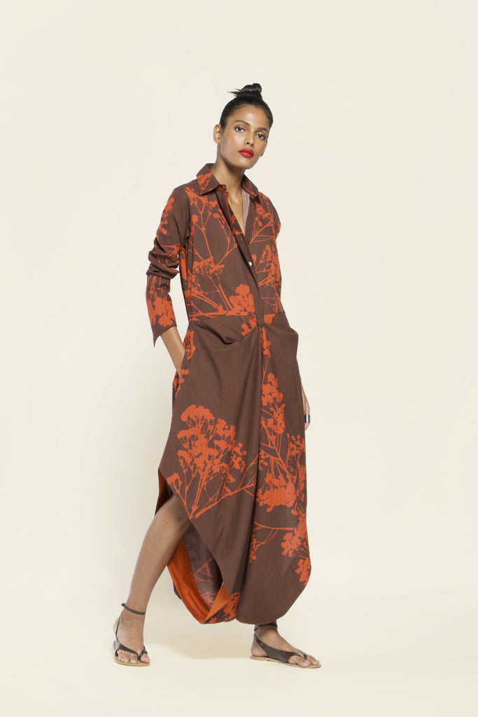 Printed Khadi Cotton Jumpsuit
