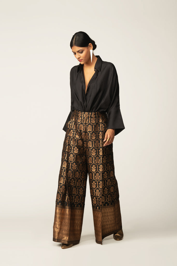 Handwoven Silk Brocade Trouser