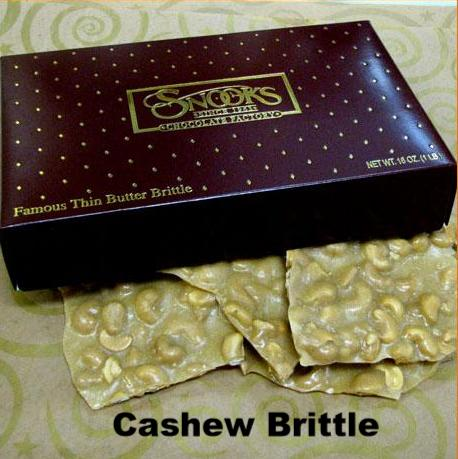 Cashew Brittle Gift Boxed 1 Pound