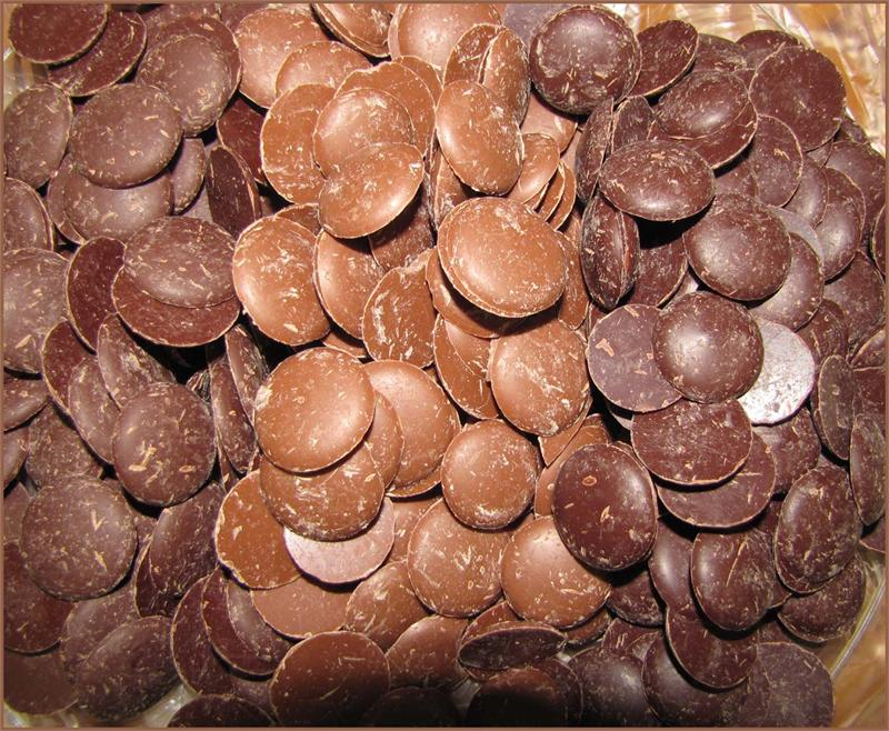Chocolate in bulk wafers Bittersweet Chocolate 72%