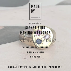 Signet Rings Only : Wednesday 26 February at Hannah Lavery, Parkhurst.