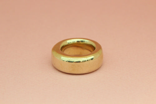 Large Wide Ring in Brass