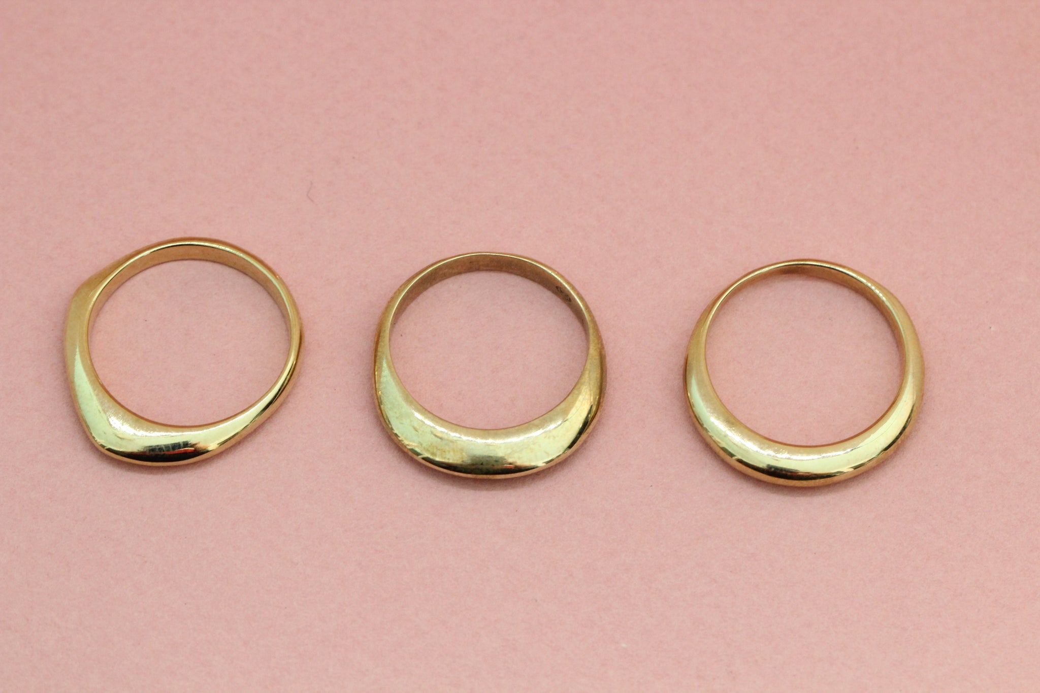 Angular Ring in Brass – Made By Jewellery