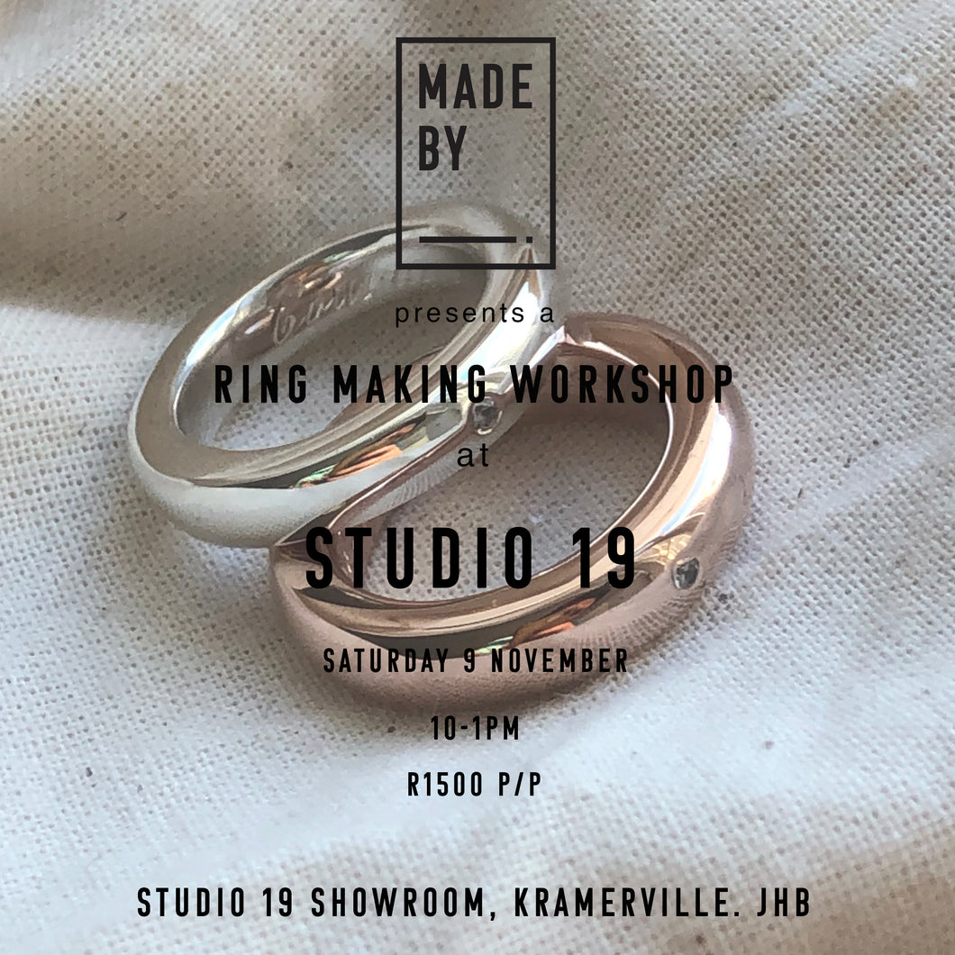 Ring Carving Workshop: Saturday 9 November at Studio 19, Kramerville (JHB)