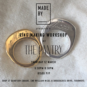 Ring a bling bling in the Northern Suburbs : Thursday 12 March at The Pantry Collection, Fourways