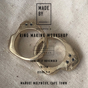 Ring Carving Study Session: Sunday 17 November at Margot Molyneux, Cape Town