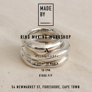 Rings and things : Saturday 28 March at Atlas Label, Foreshore. Cape Town.