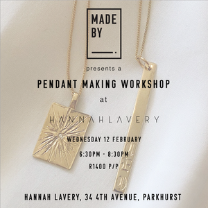 Roses and Bling : Pendant Workshop Wednesday 12 February at Hannah Lavery, Parkhurst