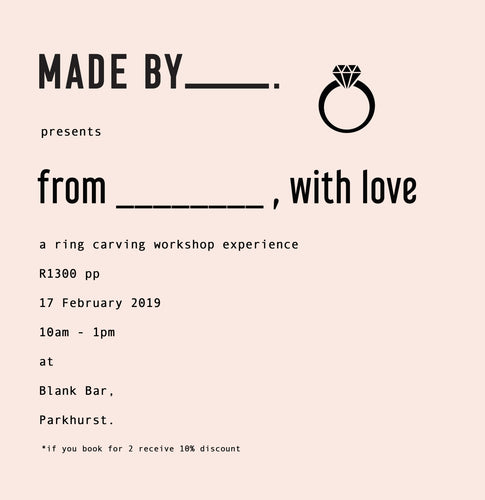 from ___________ , with love : 16 February 10am - 1pm