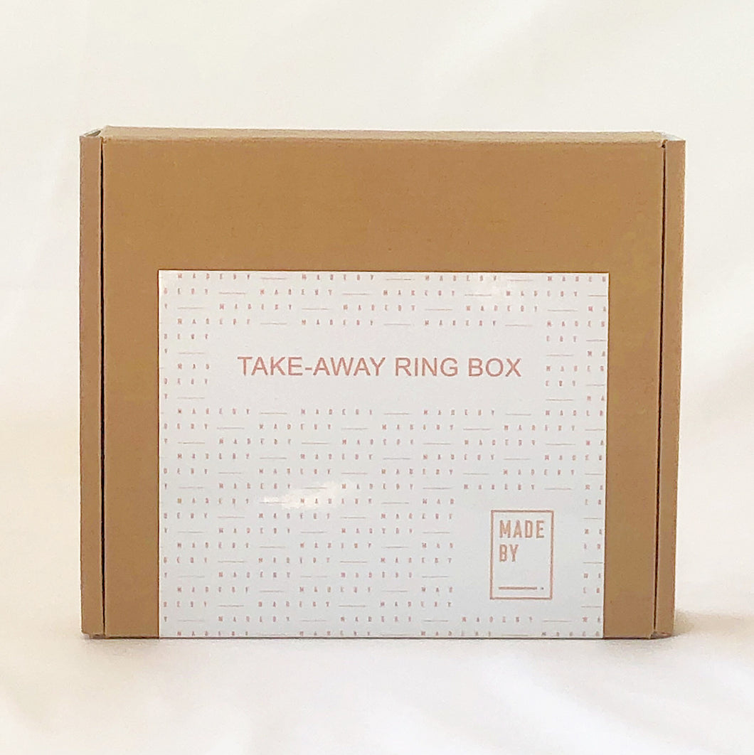 MADE BY TAKE AWAY RING BOX