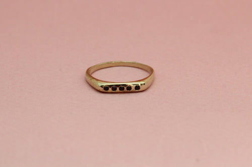 Signet Ring with Stones in Brass