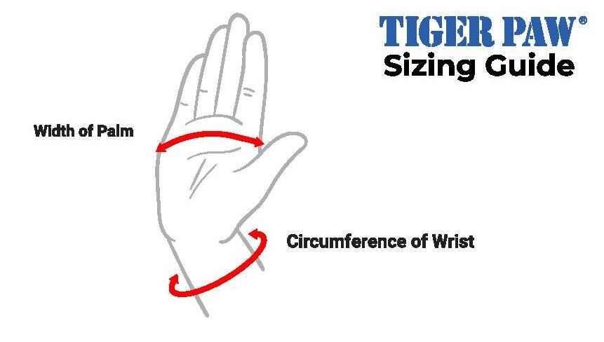 Tiger Paws Sizing Guide