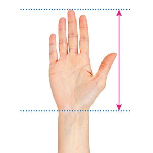 Ladies finger grip size chart
