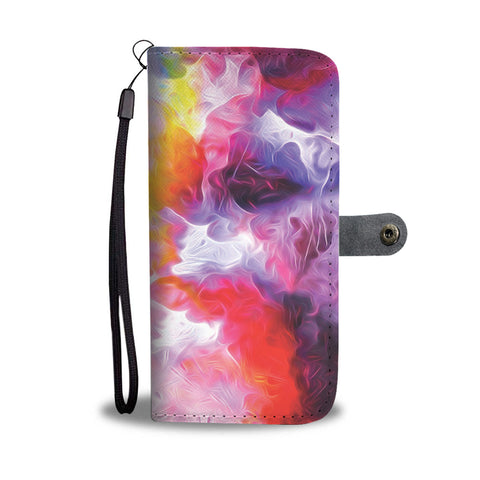 Water Color Splash Wallet Case