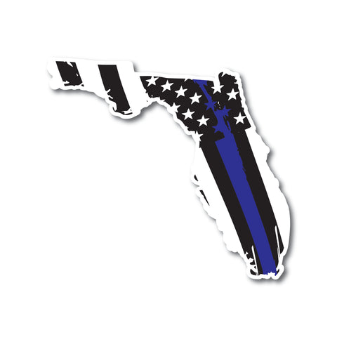 State of America Thin Blue Line Flag Car Decals