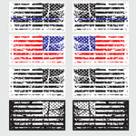 (2) Grunge American Flag Car Stickers