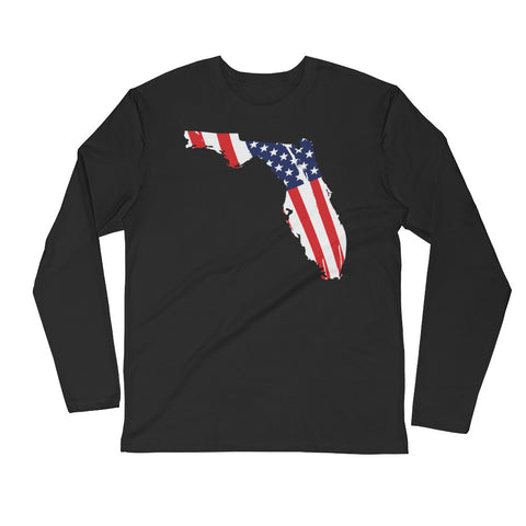 Men's Florida Flag Long Sleeve Fitted Crew