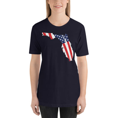 Ladies Florida Flag Short-Sleeve T-Shirt