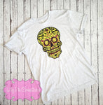 Softball Sugar Skull Tank Top - Softball Shirt