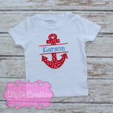 Boys Anchor Shirt - Lilly Pie Creations