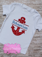 Nautical Anchor Tshirt - Lilly Pie Creations