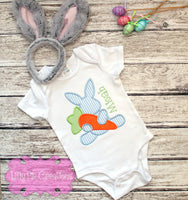 Easter Bunny with Carrot Applique T-shirt - Kids Easter shirt
