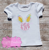 Kids Easter Bunny Monogram Shirt - Girls or Boys Easter Monogram Shirt