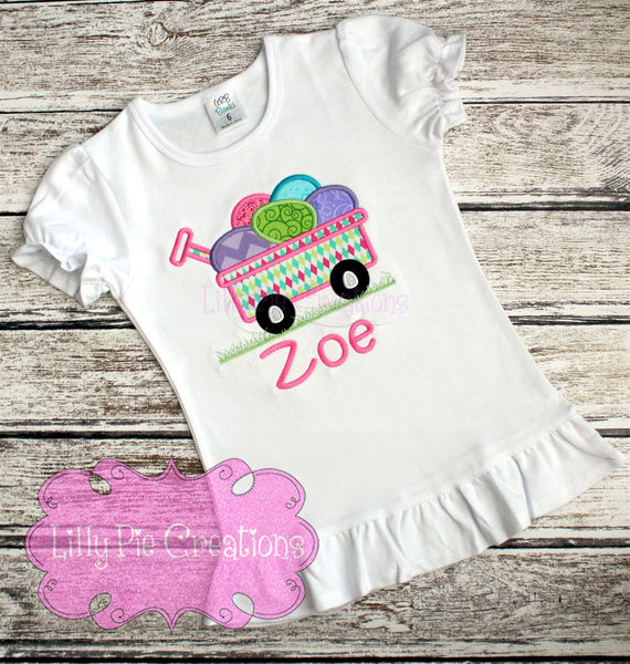 Easter Egg Wagon Shirt - Toddler Easter Shirt for Boys or Girls